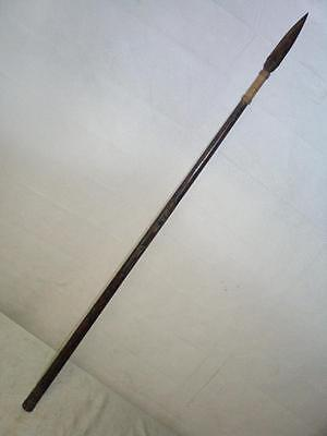 *vintage/antique Malaysian/sarawak Blowpipe With Spear Sight Tip Forest Hunting*
