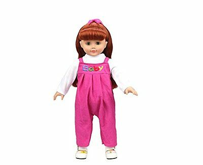 Highmall-uk 16 Inches High Simulation Baby Dolls Clothes Rompers Suit 1 Red