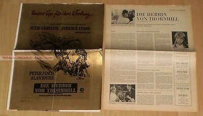Julie Christie - Peter Finch - Far From Madding Crowd *  German Press Campaign