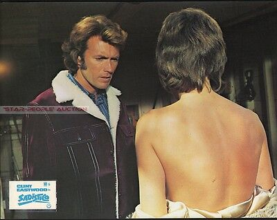 CLINT EASTWOOD & JESSICA WALTER - PLAY MISTY FOR ME  sexy RARE GERMAN LOBBY CARD