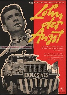 yves montand - charles vanel - THE WAGES OF FEAR * EAST GERMAN small art POSTER