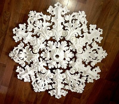 Fine Hand-made Plaster Ceiling Medallion, 3 ft diameter