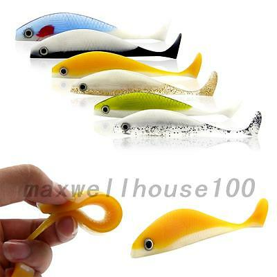 New 6Pcs SET soft lures Saltwater Fish Lures Silicone Bait 11.5cm/11g