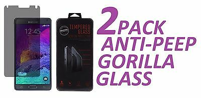 2x Anti-Spy Privacy Tempered Glass Screen Protector For Samsung Galaxy NOTE 4