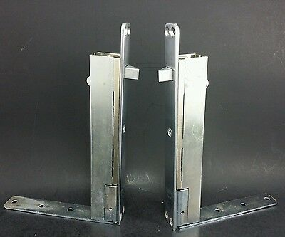 brand new IVES Top & Bottom Automatic Flush or Surface Bolt fire door stainless