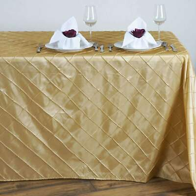 90x132 in. Pintuck Rectangle Tablecloth~Wedding Party Banquet Restaurant