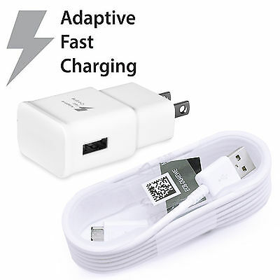 New Samsung Galaxy Note 4 5 Edge S6 S7 Edge Charger Adaptive Fast Charging