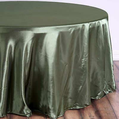 108 in. Satin Seamless Round Tablecloth Wedding Party Banquet Restaurant