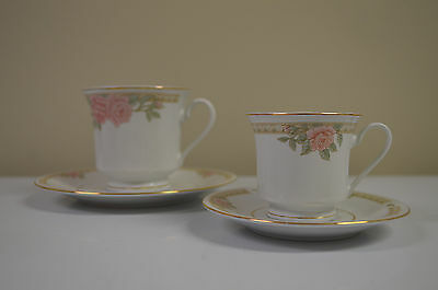 Cup and saucer set Fine China Made in China by Lynns Small and Large