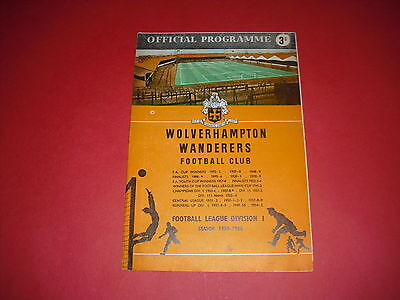 1959/60 European Cup Wolves V Red Star Belgrade