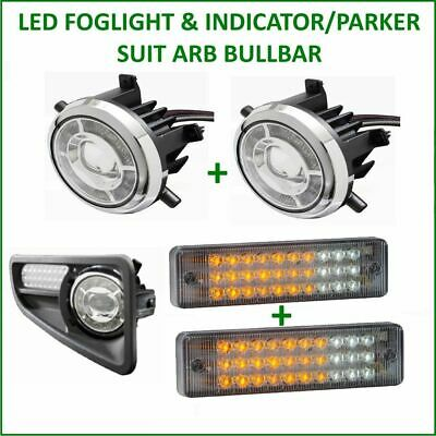 Led Foglight & Indicator Suit Arb Bullbar Direct Replacement Adr 4Wd Bull Bar