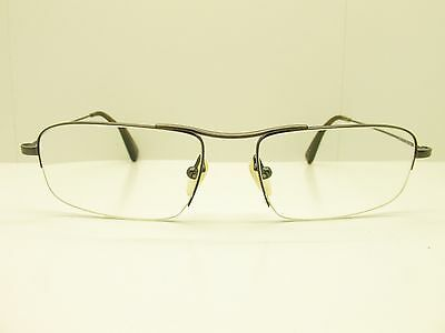 f32e53fb594 Oliver Peoples Rexford FRAMES 53-17-140 Silver Rectangle Half Rimless TV6  30500