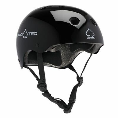 PROTEC HELMET Classic BIKE GLOSS BLACK PRO-TEC MEETS AUST BIKE STANDARDS PRO TEC