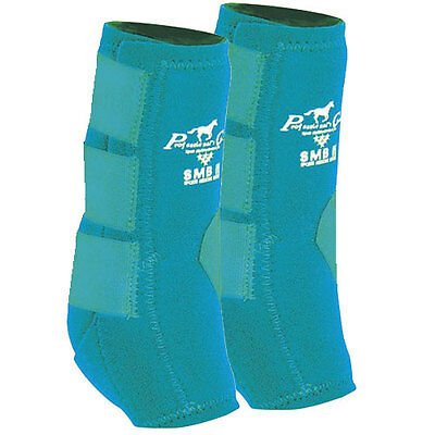 Professionals Choice SMB II Sports Medicine Boot. Medium. Turquoise. Pair.
