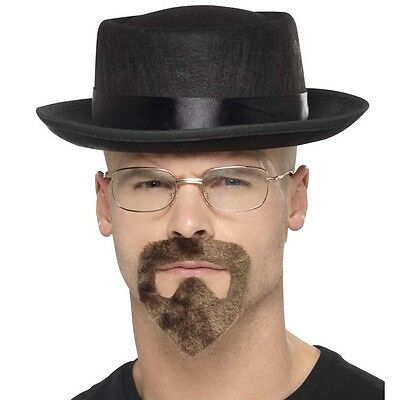 Heisenberg Costume Lot Chapeau Lunettes Barbiche Style Gangster, Walter Blanc