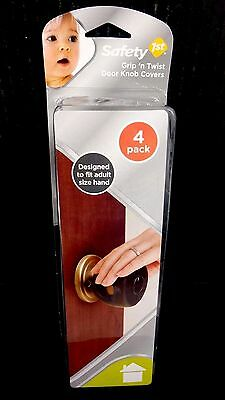 Safety 1St Grip 'N Twist Door Knob #hs199 Black Covers  Pack Of 4 Units - New -