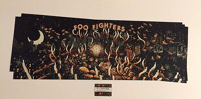 Foo Fighters [Ltd #160/180] Citi Field 20Th Poster 2015 Nyc Signed James R Eads