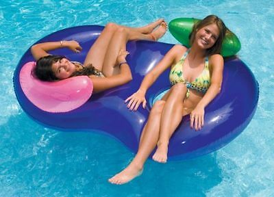Inflatable Tube Float 2 Person Swimming Pool Water Floating Lounge Raft River