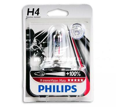 Phillips H4 Extreme Moto +100% Motorcycle Headlight Globe. Vibration Resistant!