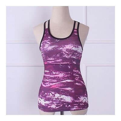 Exquisite Yoga Fitness Sports Vest Running Dry Fast ( Padded )   red stone