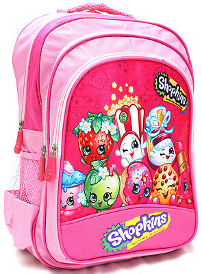 New Large Backpack Bag Pink Shopkins Girls Kids School Preschool Toys Xmas Gift
