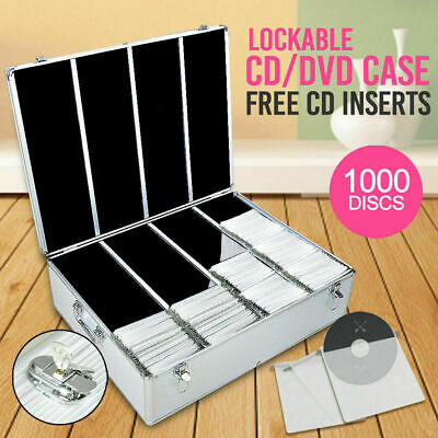Aluminium CD Case DVD Case Bluray Lock Storage Case Box 1000 Discs