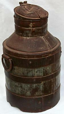 Original Small Milk Churn. From India. Fair Trade. Distressed and weathered.