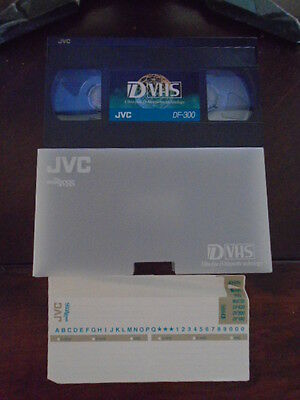 1 JVC Maxell DF-300 D-VHS DVHS tape works on SVHS VHS used one time