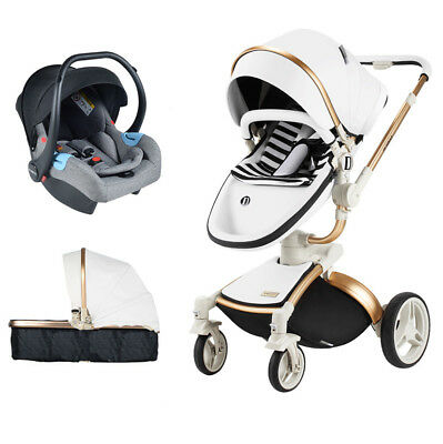 64436d70f0b6 2019 BABY STROLLER 3 in 1 travel system Bassinet Combo jogger Pushchair&car  seat