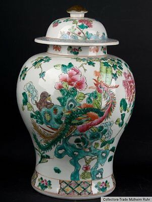 China 20. Jh. Deckelvase - A Chinese Famille Rose Vase  - Vaso Cinese - Chinois