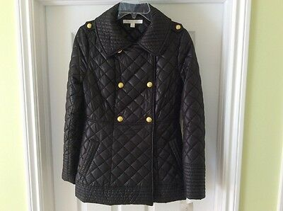 Via Spiga Women's Black Quilted Lightweight Jacket, size XS