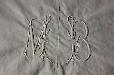 Linen sheet antique French 122X80 slipcover upholstery fabric metis MB cotton