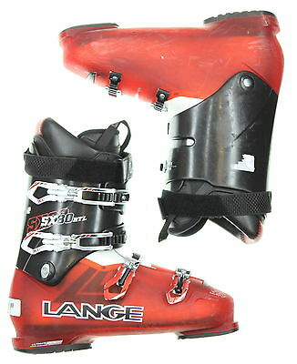 Used Lange SX 80 RTL Red & Black Ski Boots Men's Size