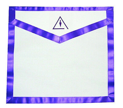 Cryptic Mason Right Break Masonic Lodge Apron Freemason. Royal & Select Trowel