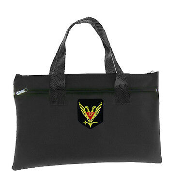 Scottish Rite Wings Up 32nd Degree - Black Masonic Tote Bag Double Headed Eagle