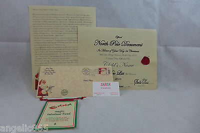 Babies 1st Letter From Santa Personalized Nice Certificate & Magic Reindeer food