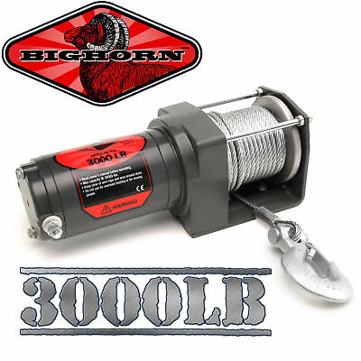 3000LB ATV Winch UTV 12V Electric 3000 LB Brand New Off Road Waterproof Kit @