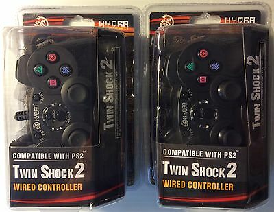 Lot of 2 PS2 Wired Double Joysticks Vibration Controls With Turbo Free Shipping