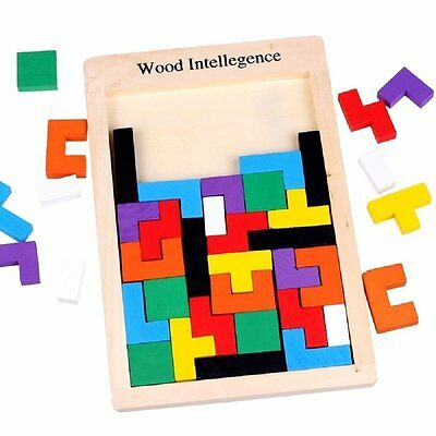 Autism Sensory Educational Puzzle Toy Special Need Tetris Creative Sorting Shape