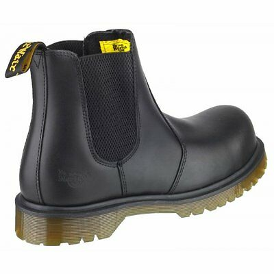 New Mens Dr. Martens ICON 2228 PW Black Work Boots Pull On Safety Shoes