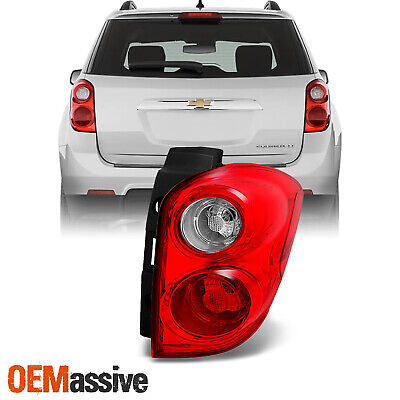 Fit 10-15 Equinox Red Clear Tail Light Passenger Right Side Replacement