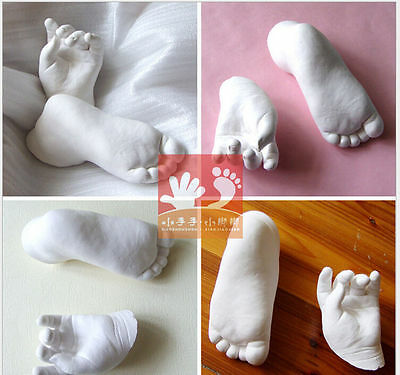 INFANT Baby Foot Prints Hand Casting kit Molds - PEARL A  /