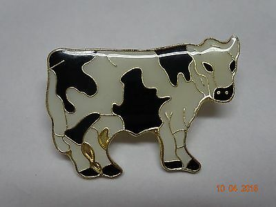 Black &White cow lapel pin  Collector pin for a cattle farmer   New