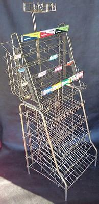 Antique 1930's Store Display Newspaper Chewing Gum Stand Tall Rare Advertising