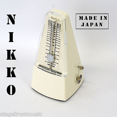 Nikko Ivory Pyramid Style Metronome. Made In Japan