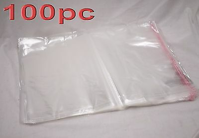100pc Large Self Adhesive Seal Clear Plastic Resealable Bags 40x53cm Wholesale