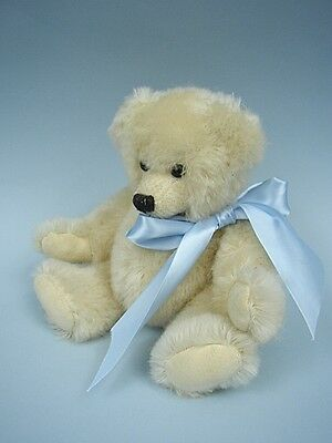 "9"" White Mohair Jointed Teddy Bear by Donna Hodges of Bearons of La Jolla"