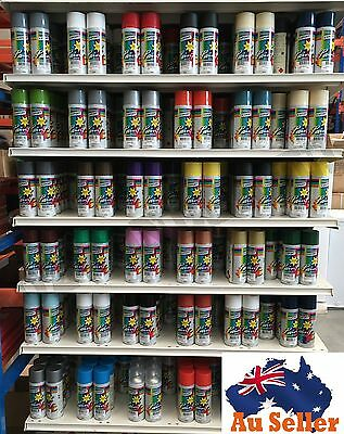 Australian Export Spray Paint Can Fast Shipping + 34 Colours Selection 250gm