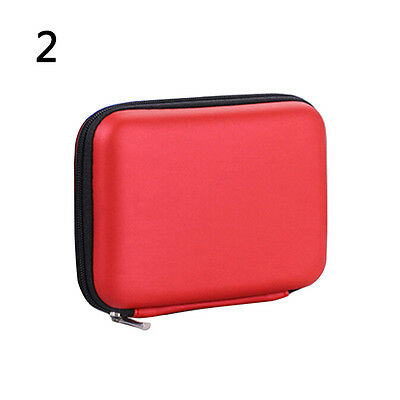 Red 5'' Cable HDD Hard Disk Portable Power Hand Carry Bag Case Cover Precise