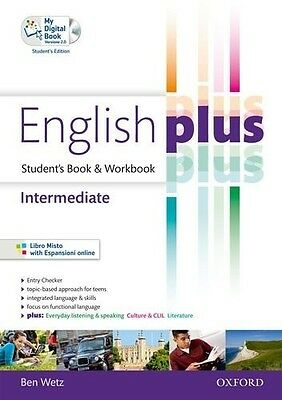 English Plus. Intermediate. Student's Book-Workbook. Con Cd Aud… | 9780194648851